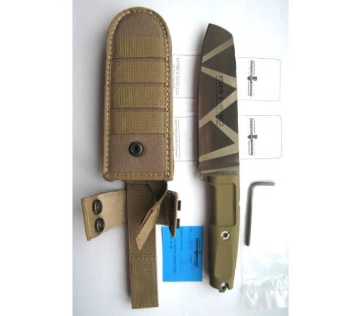 Фото 7 - Полевой поварской нож Extrema Ratio Kato 15 Desert Camo,  сталь Bhler N690, рукоять Forprene®