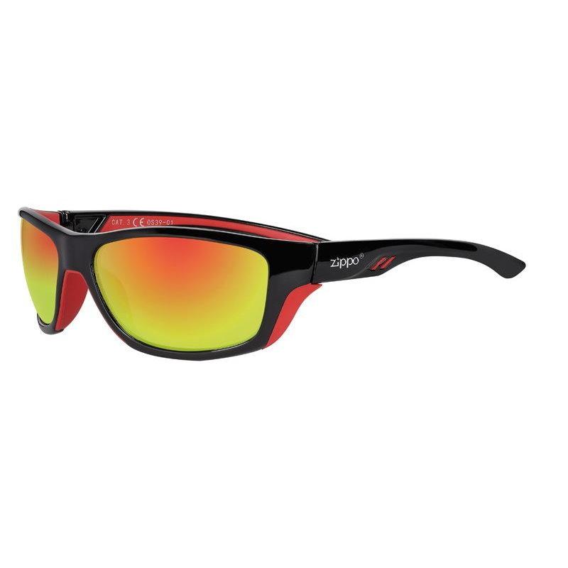 Фото - Очки солнцезащитные ZIPPO OS39-01 спортивные, унисекс, чёрные, оправа из поликарбоната очки солнцезащитные zippo ob70 01 унисекс чёрные оправа из поликарбоната