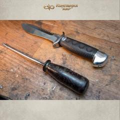 """Нож АиР """"Боец"""", сталь 100х13м, рукоять граб, разборный, фото 10"""