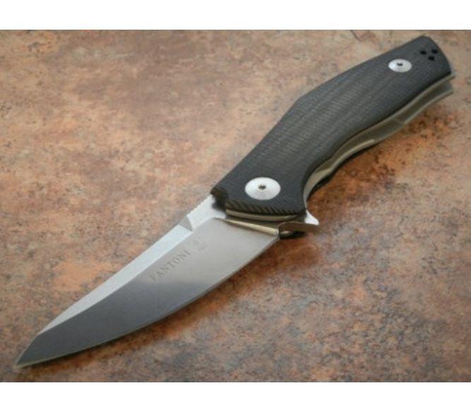 Фото 5 - Нож складной Fantoni, C.U.T. Flipper, FAN/CUTFLBkBk, сталь CPM-S30V, рукоять стеклотекстолит G-10