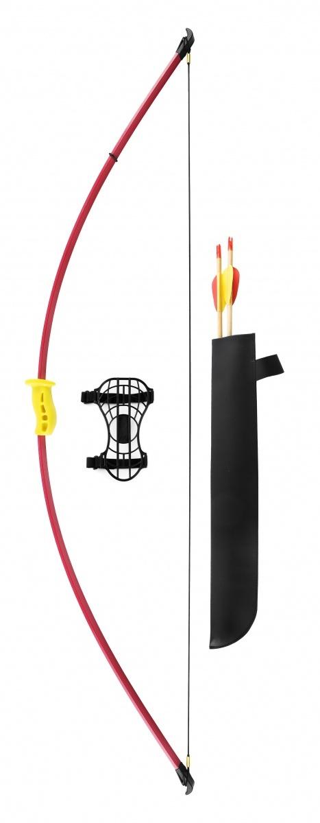Лук детский классический красный 7кг, 130см (колчан, 2 стрелы, крага, мишень) от Archezon