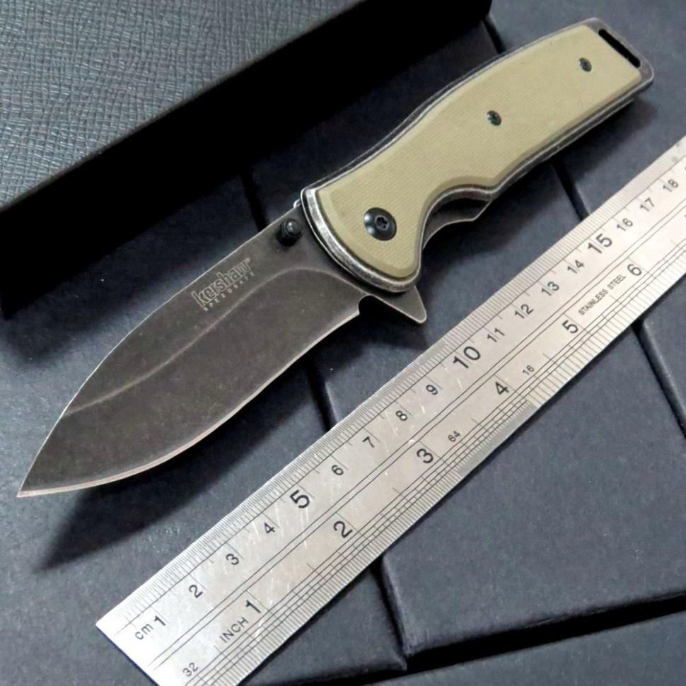 Фото 7 - Складной полуавтоматический нож Kershaw Bevy K1329, сталь 8Cr13MoV, рукоять G-10