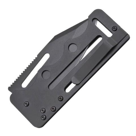 Складной нож Access Card 2.0 - SOG SOGAC77, сталь VG-10, рукоять нержавеющая сталь, чёрный. Вид 11