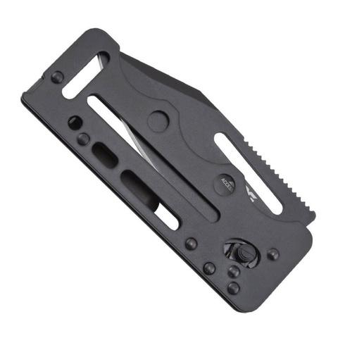 Складной нож Access Card 2.0 - SOG SOGAC77, сталь VG-10, рукоять нержавеющая сталь, чёрный. Вид 4