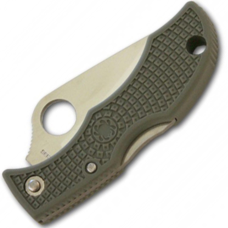 Фото 7 - Складной нож-брелок Ladybug 3 Spyderco LFGS3, сталь VG-10 Satin Serrated, рукоять термопластик FRN (Foliage Green) зелёный