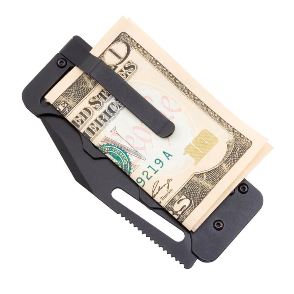 Фото 5 - Складной нож Access Card 2.0 - SOG SOGAC77, сталь VG-10, рукоять нержавеющая сталь, чёрный