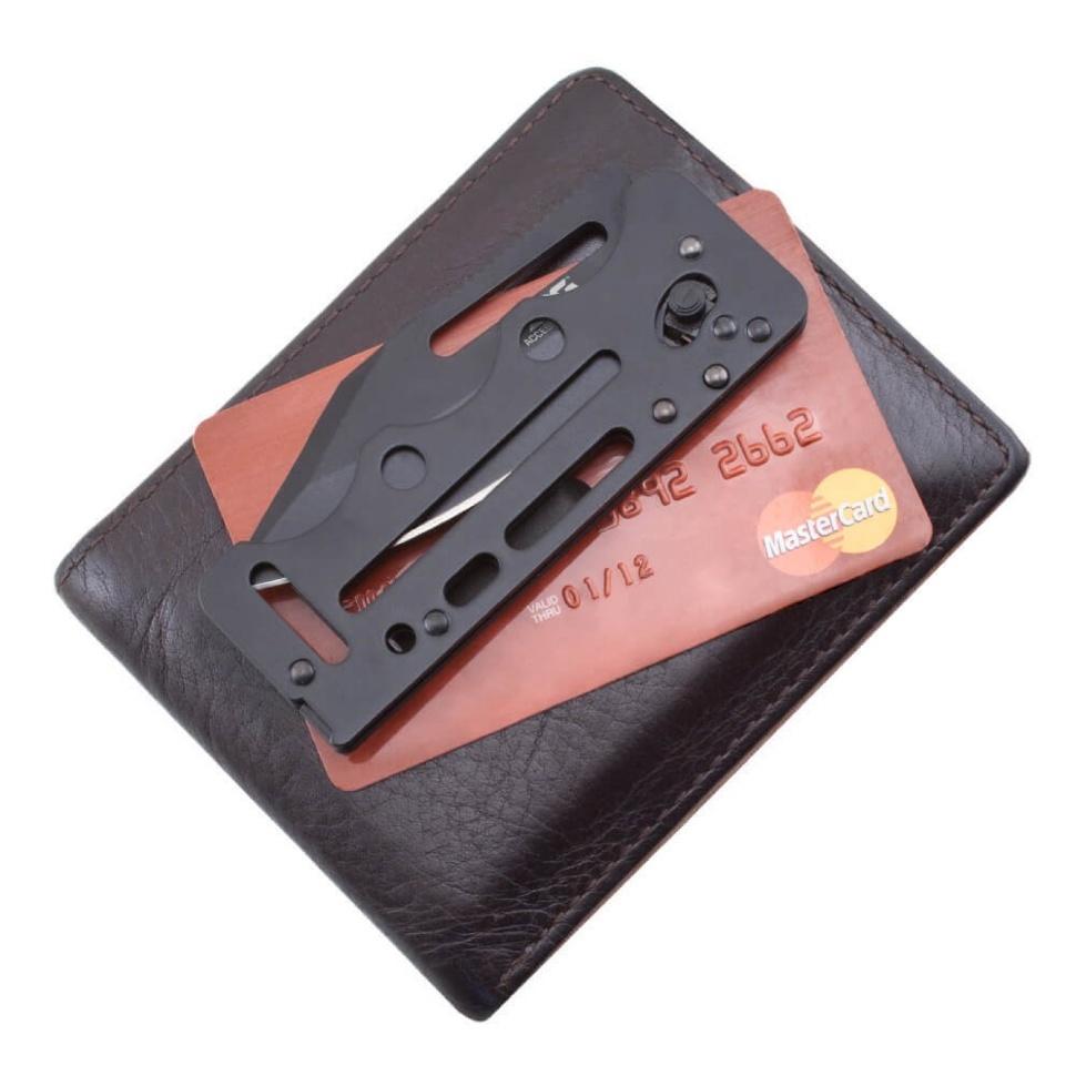 Фото 4 - Складной нож Access Card 2.0 - SOG SOGAC77, сталь VG-10, рукоять нержавеющая сталь, чёрный