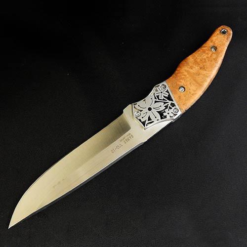 Фото 12 - Туристический нож G.Sakai, Sakura 2 Fixed, 11431, сталь VG-10, Дерево Айва karin-kobu, в подарочной картонной коробке