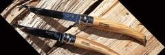 Нож складной филейный Opinel №8, оливковое дерево