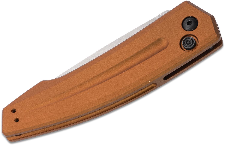 Фото 11 - Полуавтоматический складной нож Launch 2 - Kershaw 7200EBSW Earth Brown, сталь Crucible CPM® 154, рукоять анодированный алюминий, песочный