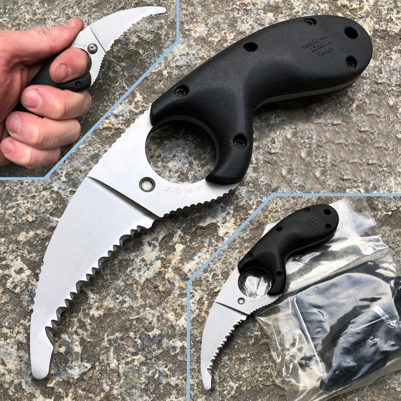 Фото 4 - Стропорез Bear Claw Serrated Edge-1, CRKT 2510, сталь AUS 4, рукоять термопластик GRN, черный