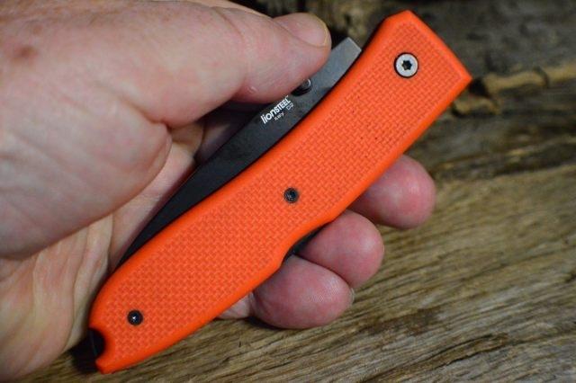 Фото 4 - Нож складной Lionsteel Big Opera, сталь D2, рукоять G-10, оранжевый от Lion Steel
