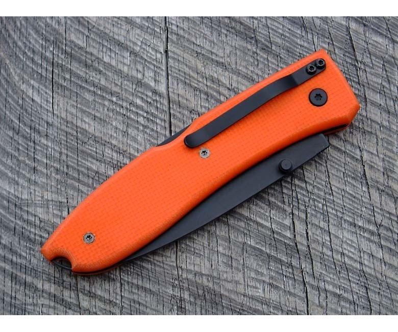 Фото 5 - Нож складной Lionsteel Big Opera, сталь D2, рукоять G-10, оранжевый от Lion Steel