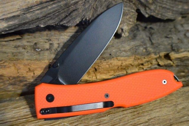 Фото 2 - Нож складной Lionsteel Big Opera, сталь D2, рукоять G-10, оранжевый от Lion Steel