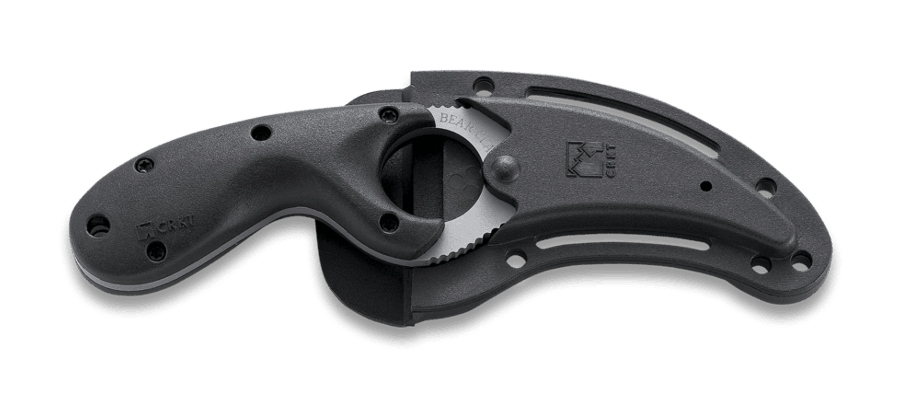 Фото 8 - Стропорез Bear Claw Serrated Edge-1, CRKT 2510, сталь AUS 4, рукоять термопластик GRN, черный
