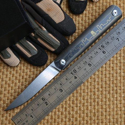 Складной нож Ziebr, сталь ZDP-189. Вид 7