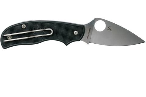 Нож складной Urban Spyderco C127PBK, сталь N690Co Satin Plain, рукоять пластик FRN, чёрный