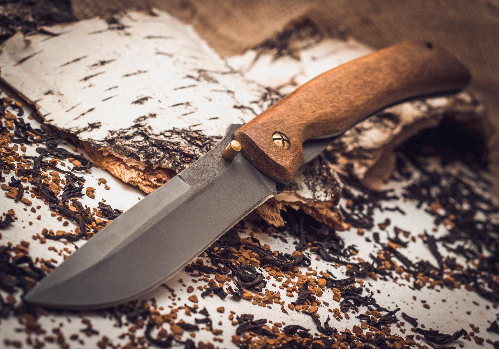 Фото 5 - Складной нож Кочевник из стали 95х18, орех от Марычев