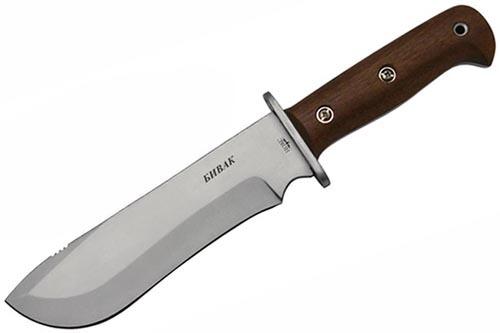 Нож Бивак Н, сталь AUS-8, орех