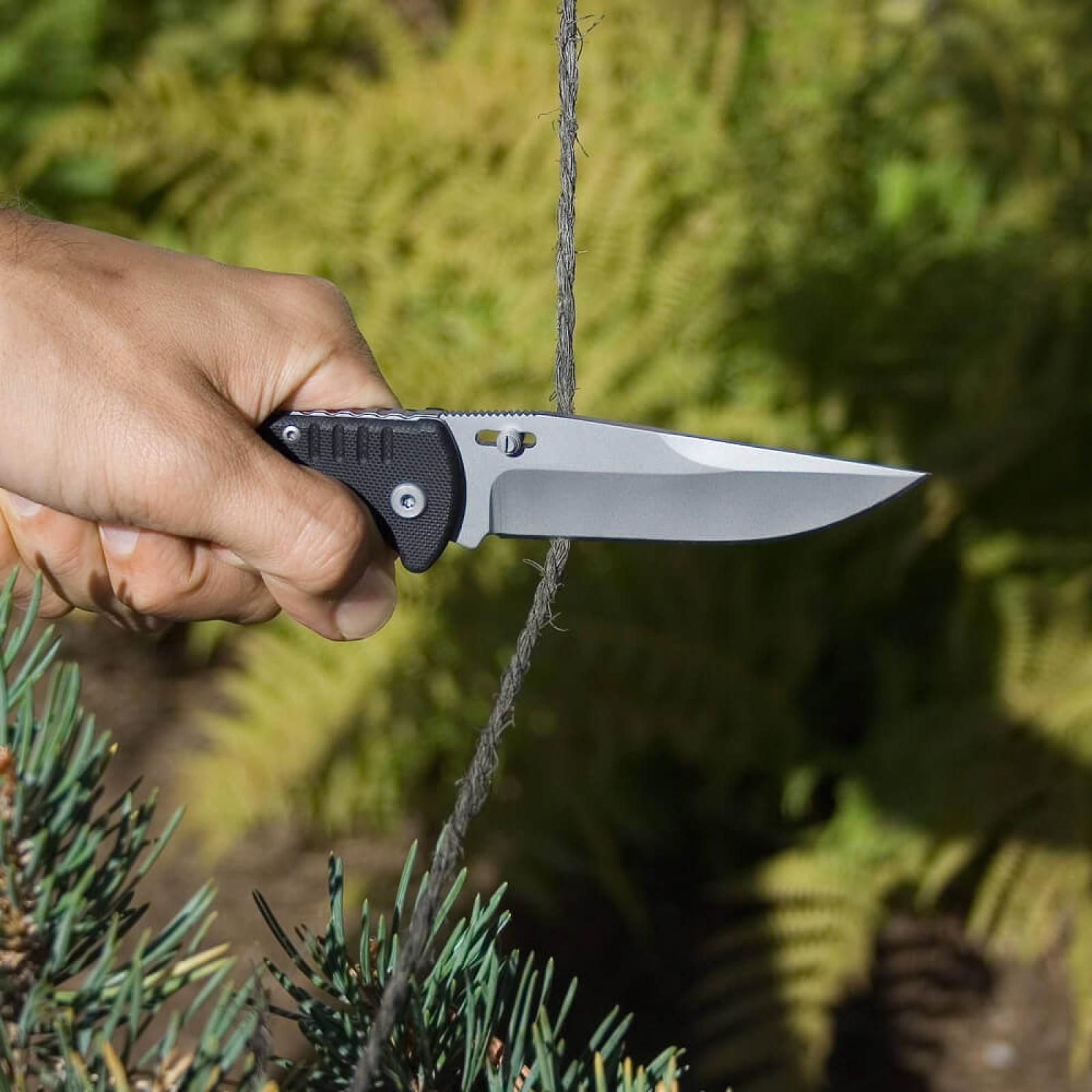Фото 9 - Складной нож Salute Fusion - SOG FF10, сталь 8Cr13MoV, рукоять G10, чёрный