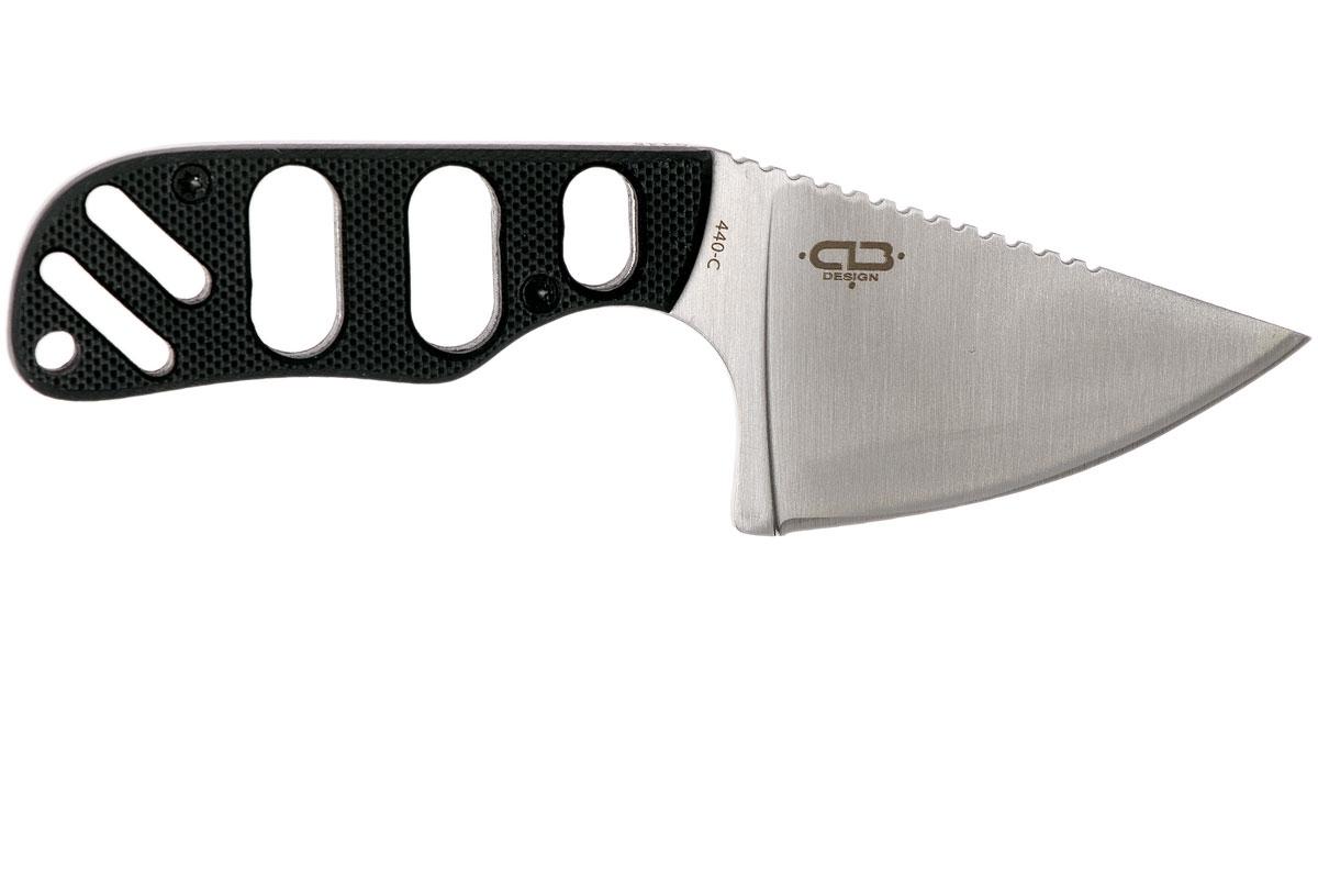 Фото 10 - Нож с фиксированным клинком шейный Chad Los Banos Design SFB Neck, Boker Plus 02BO321, сталь 440C Satin, рукоять стеклотекстолит G10