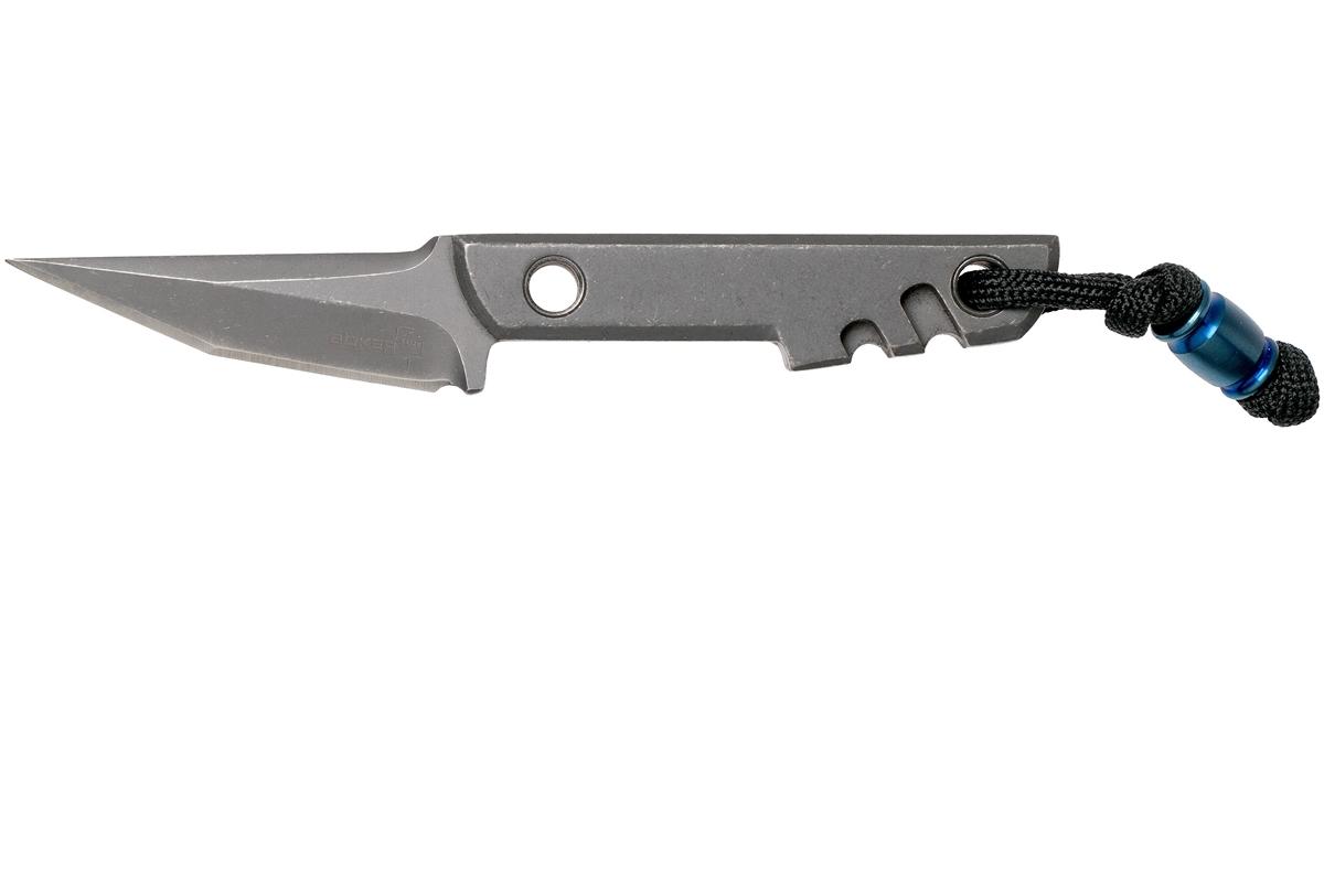 Фото 10 - Нож с фиксированным клинком Boker Plus Mini Slik Tanto, сталь 440C Stonewash, рукоять титан, 02BO230