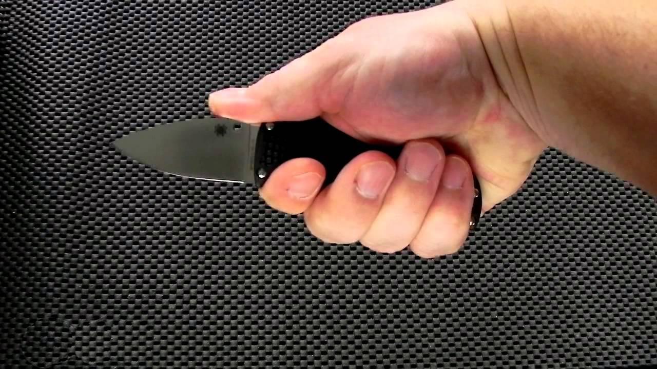 Фото 8 - Нож с фиксированным клинком Enuff Spyderco FB31CPBK, сталь VG-10 Satin Plain, рукоять термопластик FRN, чёрный