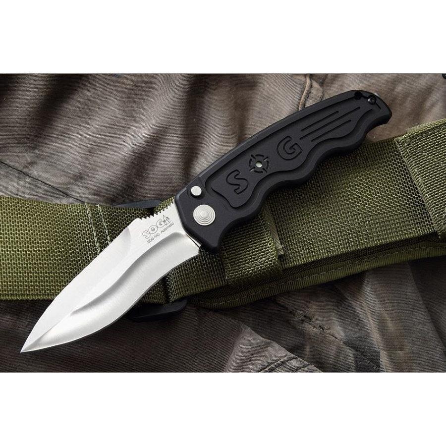 Складной автоматический нож SOG-TAC ST05, сталь Aus 8, рукоять алюминий
