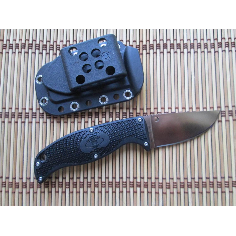 Фото 10 - Нож с фиксированным клинком Enuff Spyderco FB31CPBK, сталь VG-10 Satin Plain, рукоять термопластик FRN, чёрный