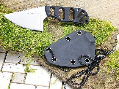Фото 8 - Нож с фиксированным клинком шейный Chad Los Banos Design SFB Neck, Boker Plus 02BO321, сталь 440C Satin, рукоять стеклотекстолит G10