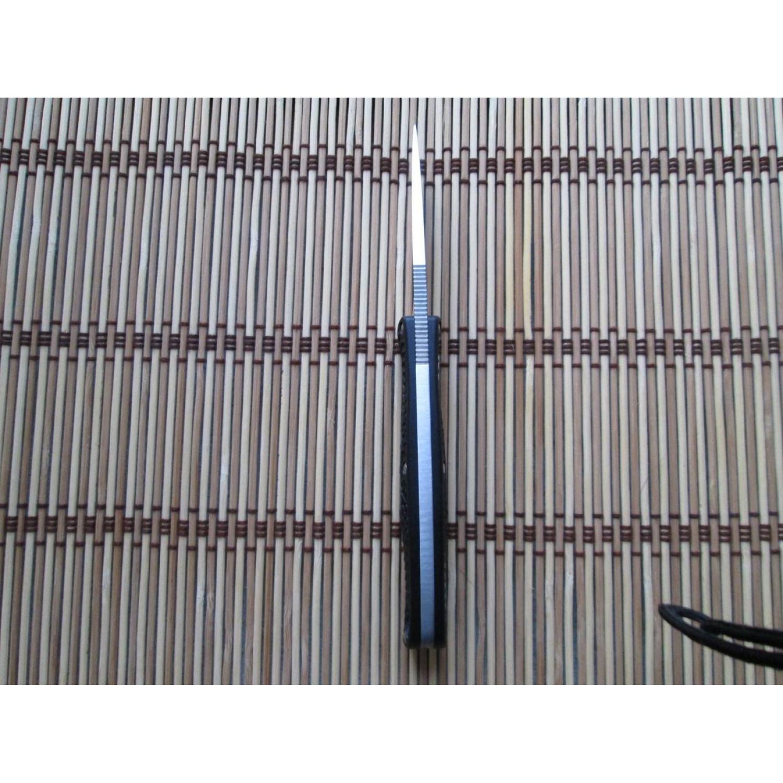 Фото 11 - Нож с фиксированным клинком Enuff Spyderco FB31CPBK, сталь VG-10 Satin Plain, рукоять термопластик FRN, чёрный