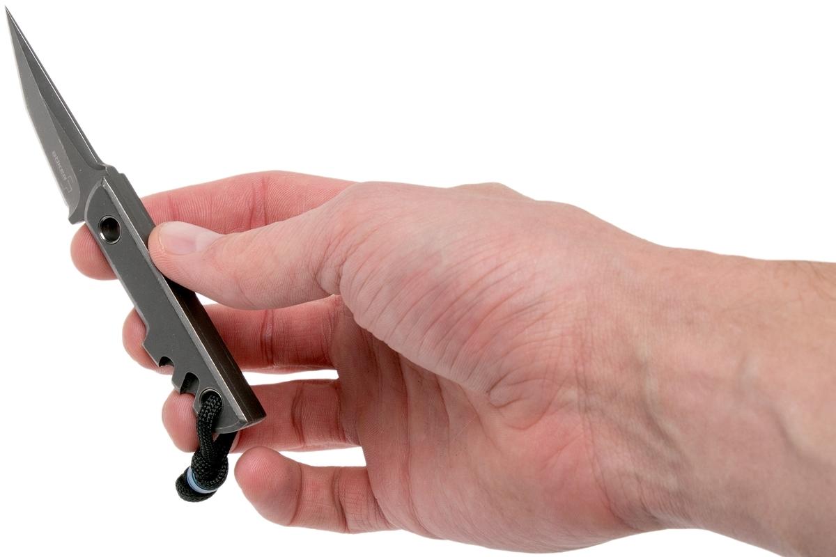 Фото 9 - Нож с фиксированным клинком Boker Plus Mini Slik Tanto, сталь 440C Stonewash, рукоять титан, 02BO230