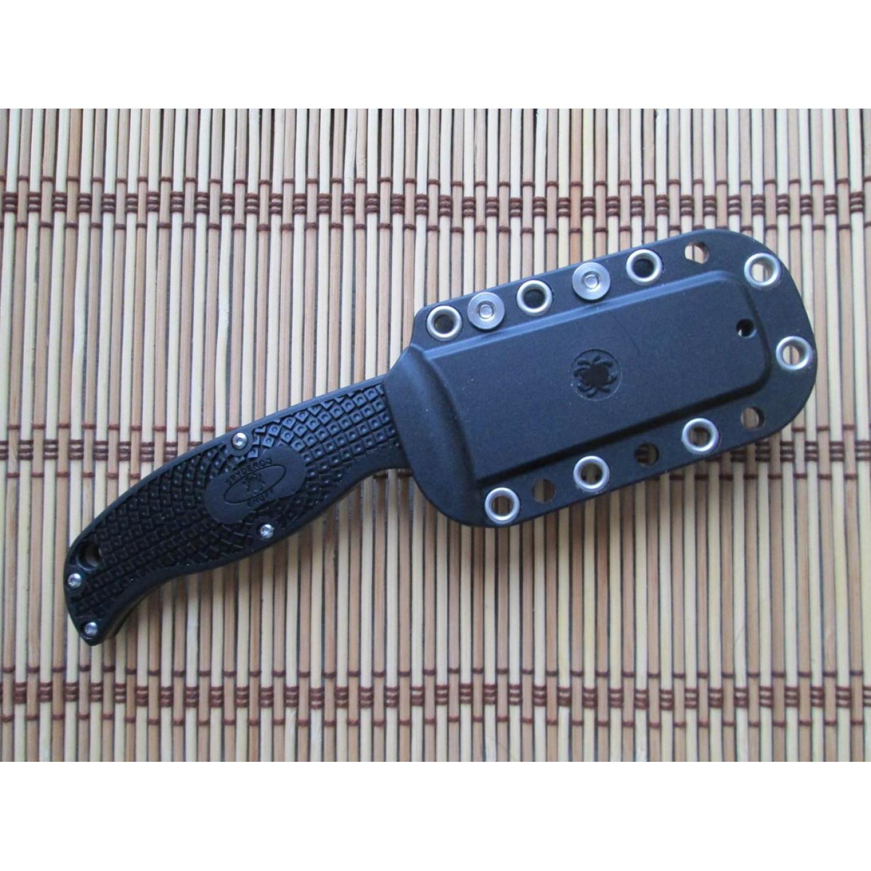 Фото 12 - Нож с фиксированным клинком Enuff Spyderco FB31CPBK, сталь VG-10 Satin Plain, рукоять термопластик FRN, чёрный