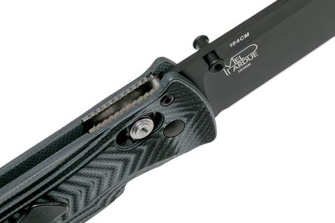 Складной нож Benchmade 531BK Pardue Black, сталь 154CM, рукоять G10. Вид 11
