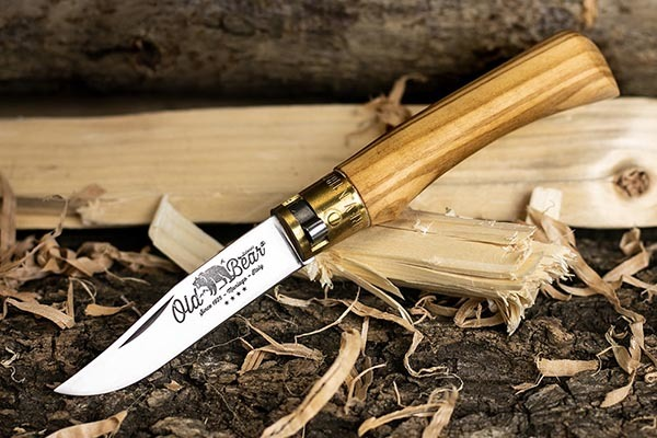 Фото 6 - Складной нож Antonini Old Bear® Olive M, сталь Hardened Aisi 420, рукоять оливковое дерево