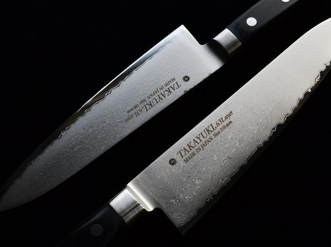 Фото 2 - Нож кухонный универсальный 150 мм, Sakai Takayuki Damascus VG-10, 63 сл., pakkawood