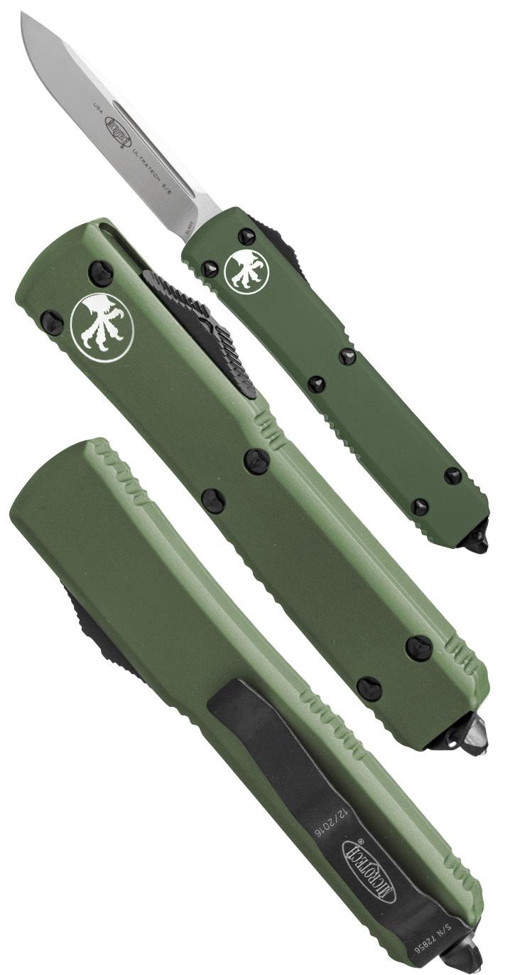 Купить Автоматический выкидной нож Microtech Ultratech S/E MT_121-4OD, сталь M390, рукоять алюминий в России