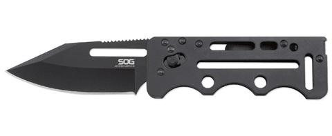Складной нож Access Card 2.0 - SOG SOGAC77, сталь VG-10, рукоять нержавеющая сталь, чёрный. Вид 1