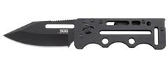 Складной нож Access Card 2.0 - SOG SOGAC77, сталь VG-10, рукоять нержавеющая сталь, чёрный, фото 1