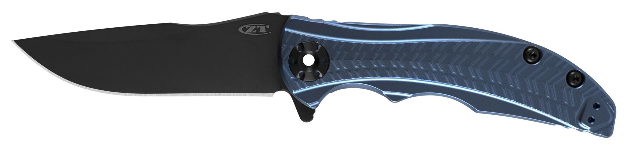 Складной нож Zero Tolerance 0609BLUBLK, сталь CPM-S35VN, покрытие Black DLC, рукоять титан