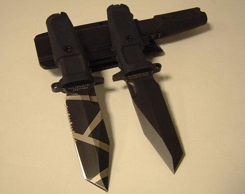 Нож с фиксированным клинком Extrema Ratio Fulcrum Testudo, сталь Böhler N690, рукоять пластик. Вид 4