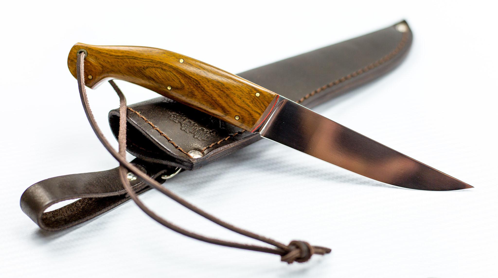 Нож Наваха, сталь Vanadis 10, рукоять дуб от Кузница Завьялова