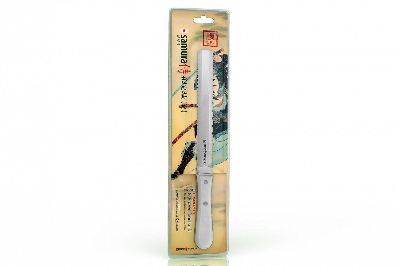 Фото 4 - Нож для замороженных продуктов Samura Harakiri SHR-0057W, сталь AUS-8, рукоять ABS пластик