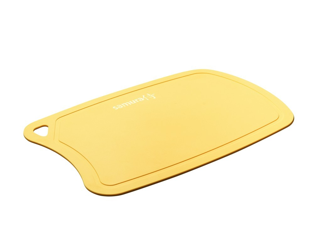 Фото 5 - Доска Samura термопластиковая антибактериальная, 380х250х2 мм, желтая, SF-02Y