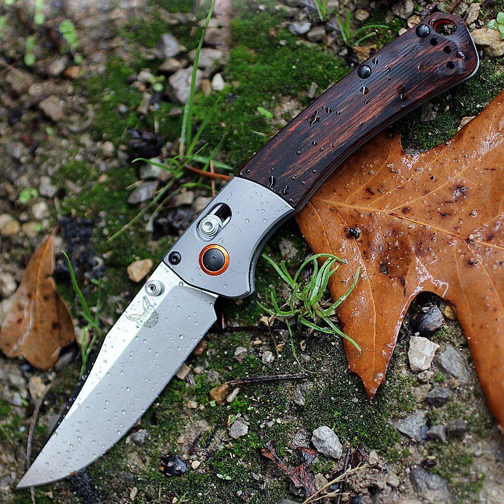 цена на Нож складной Benchmade Hunt Series Mini Crooked River Wood 15085-2, сталь CPM S30V, рукоять дерево