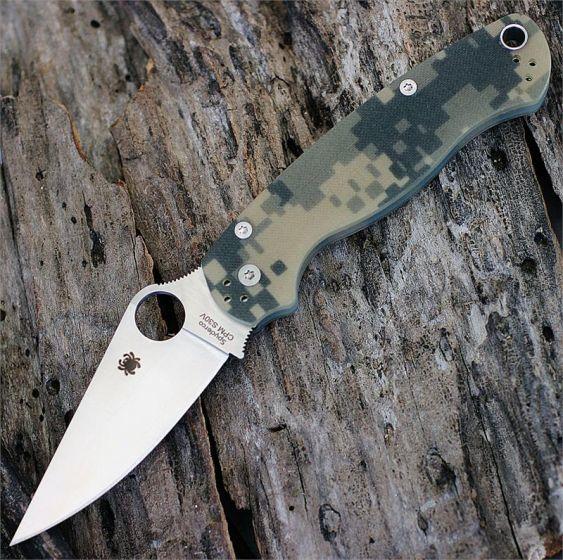 Фото 8 - Нож складной Para Military 2 - Spyderco C81GPCMO2, сталь CPM® S30V™ Satin Plain, рукоять стеклотекстолит G10, цифровой камуфляж (Digi Camo)