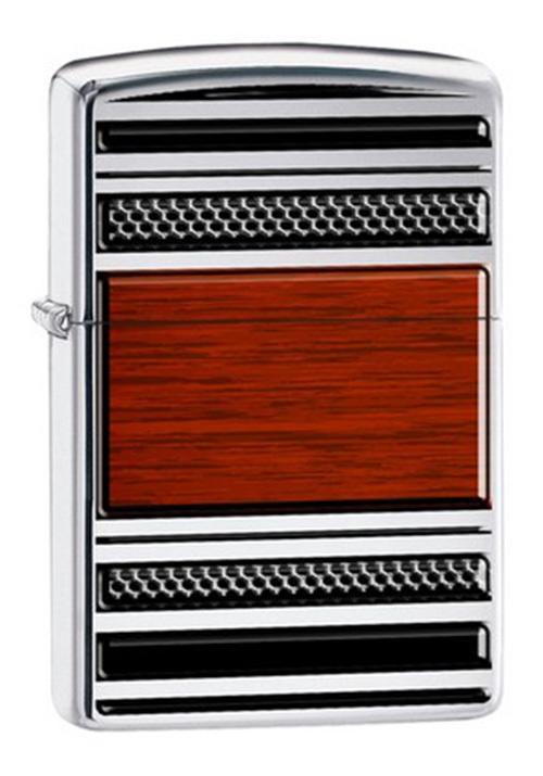 Зажигалка ZIPPO Pipe, латунь с покрытием High Polish Chrome, сталь и дерево, глянцевая, 36х12x56 мм 02 honda cr250 fmf fatty pipe 2 stroke chrome