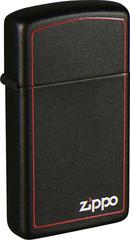 Зажигалка ZIPPO Slim® с покрытием Black Matte, латунь/сталь, чёрная, матовая, 30x10x55 мм