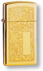 Зажигалка ZIPPO High Polish Brass, латунь, золотистый, глянцевая, 30х55х10 мм