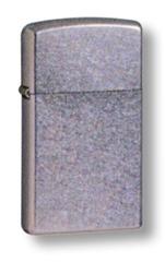 Зажигалка ZIPPO Slim® с покрытием Street Chrome™, латунь/сталь, серебристая, матовая, 30х10x55 мм